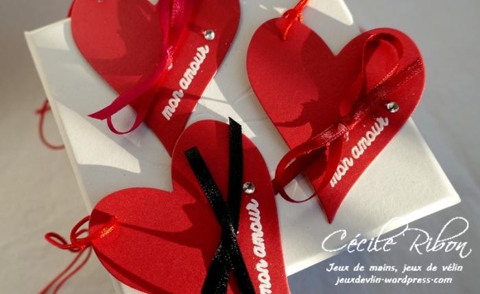 Des étiquettes à gogo #12 – Des cœurs rouges pour laSaint-Valentin.