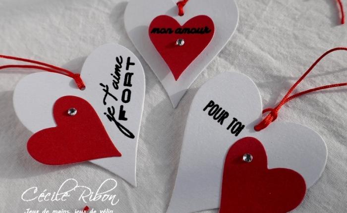 Des étiquettes à gogo #13 – Duos de cœurs  pour laSaint-Valentin.