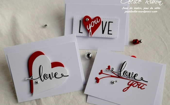 Des Mini-cartes #6 – Pour la Saint-Valentin – Love (you)