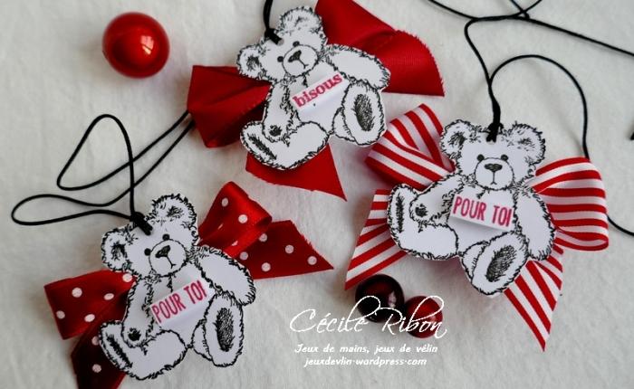 Des étiquettes à gogo #15 – Des Nounours  pour laSaint-Valentin.