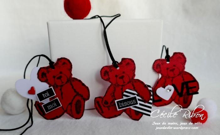 Des étiquettes à gogo #16 – Encore des Nounours  pour laSaint-Valentin.