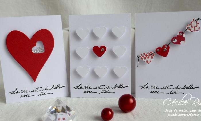 Des Mini-cartes #7 – Plein de petits cœurs pour laSaint-Valentin.