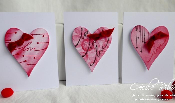 Des Mini-cartes #8 – Cœurs d'encre et nœuds de velours pour laSaint-Valentin.